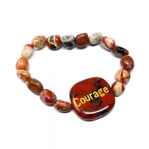 Brecciated Jasper Word Bracelet All Crystal Jewelry bracelet