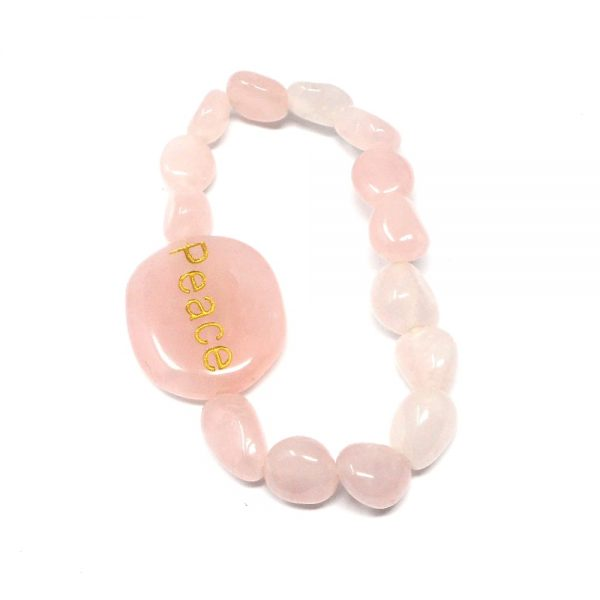 Rose Quartz Word Bracelet All Crystal Jewelry bracelet