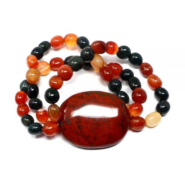 Fancy Jasper Wafer Bracelet All Crystal Jewelry bloodstone