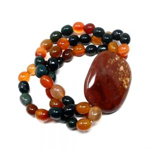 Fancy Jasper Wafer Bracelet All Crystal Jewelry bloodstone