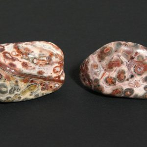 Agate, Leopardskin, tumbled, 16oz