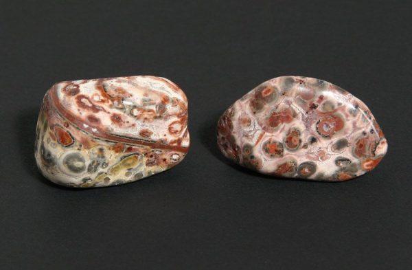 Agate, Leopardskin, tumbled, 16oz All Tumbled Stones Brazil