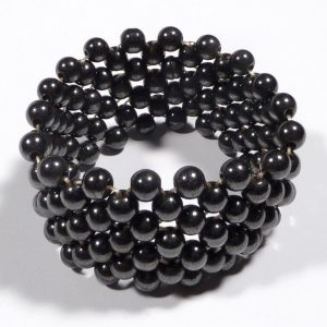 Magnetic Hematite Bracelet – wide woven All Crystal Jewelry