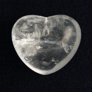 Quartz, Clear, Puffy Heart, 45mm All Polished Crystals