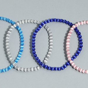 Cat's eye round bead bracelet Crystal Jewelry [tag]