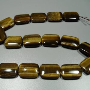 Gold Tiger Eye rectangular bead strand All Crystal Jewelry Gold Tiger Eye rectangular bead