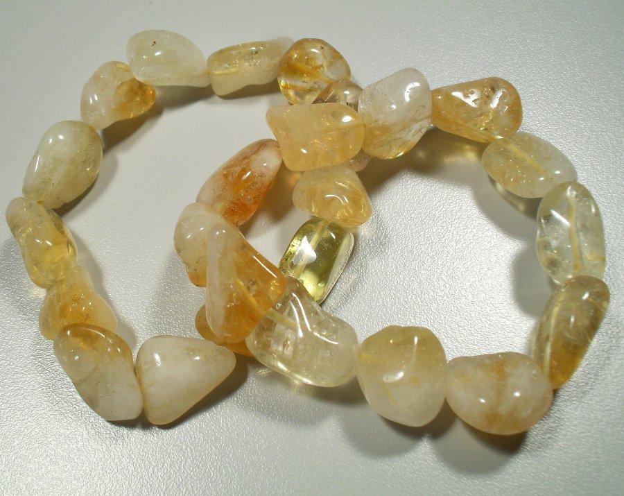 Citrine tumbled stone bracelet All Crystal Jewelry
