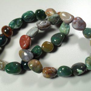 Fancy jasper tumbled stone bracelet All Crystal Jewelry