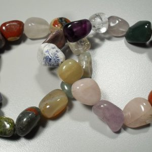 Mixed tumbled stone bracelet All Crystal Jewelry