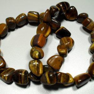 Tiger eye tumbled stone bracelet All Crystal Jewelry