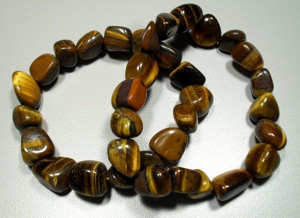 Tiger eye tumbled stone bracelet All Crystal Jewelry [tag]