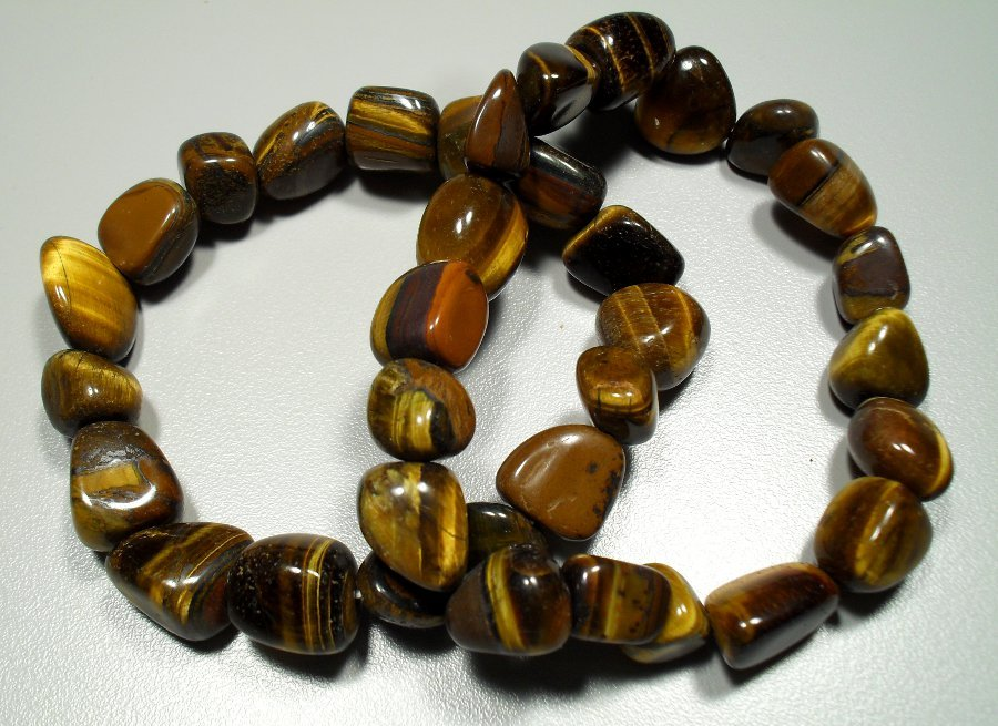 Tiger eye tumbled stone bracelet All Jewellery