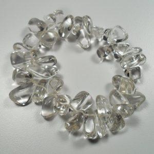 Extra clear quartz tumbled stone bracelet All Crystal Jewelry [tag]