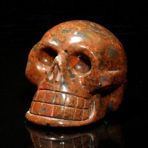 Jasper, Brecciated, Skull, lg All Polished Crystals [tag]