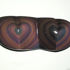 Obsidian, Rainbow, Twin Heart All Polished Crystals