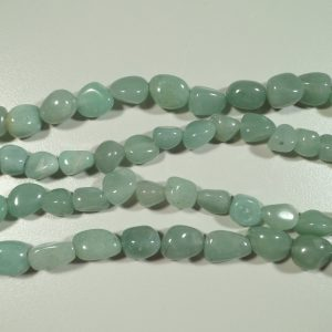 Tumbled stone strand of Green Aventurine