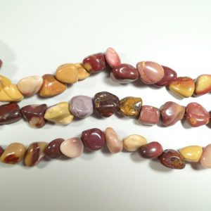 Tumbled stone strand of Mookaite All Jewellery