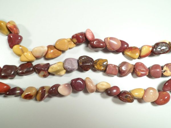 Tumbled stone strand of Mookaite All Crystal Jewelry [tag]
