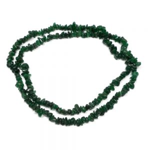 Green Aventurine Chip Bead Necklace All Crystal Jewelry aventurine