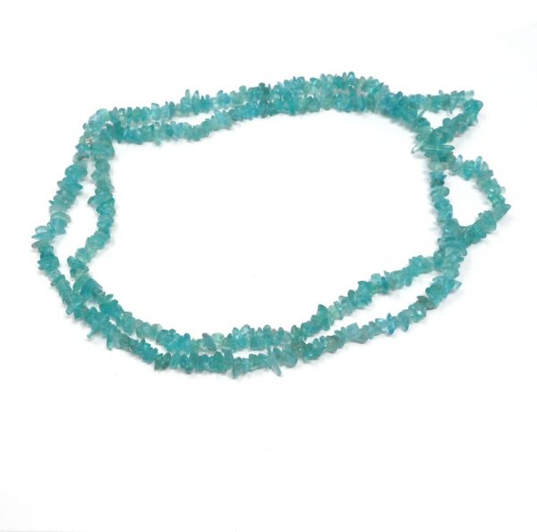 Blue Apatite Chip Bead Necklace All Crystal Jewelry apatite