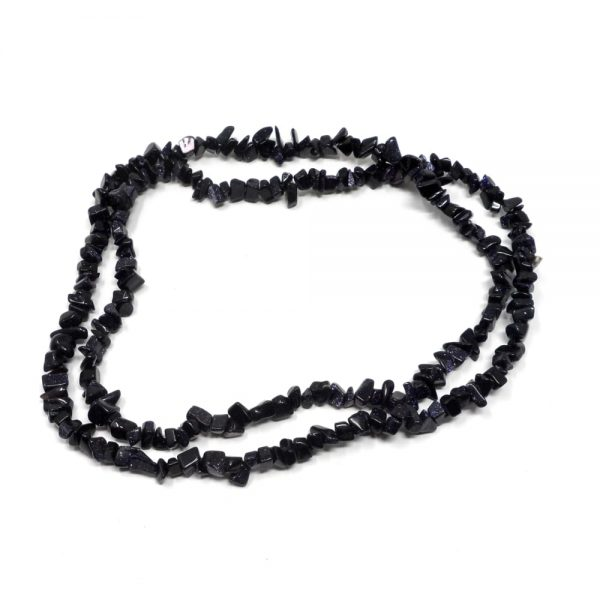 Blue Goldstone Chip Bead Strand All Crystal Jewelry blue goldstone