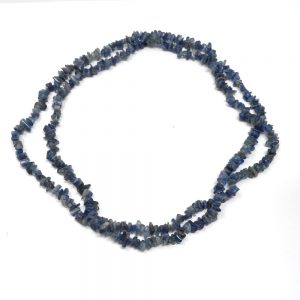 Blue Kyanite Chip Bead Strand All Crystal Jewelry blue kyanite