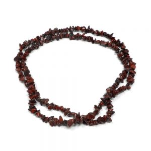 Jasper, Brecciated Chip Bead Necklace All Crystal Jewelry brecciated jasper