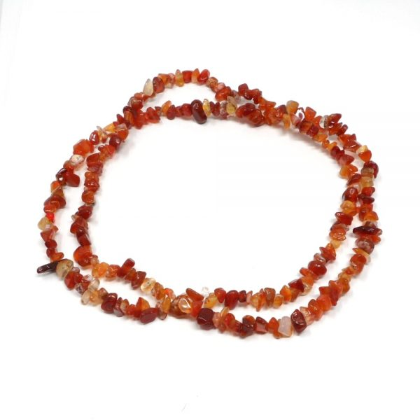 Carnelian Chip Bead Strand All Crystal Jewelry agate beads