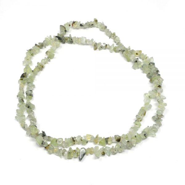 Green Garnet Chip Bead Strand All Crystal Jewelry chip bead