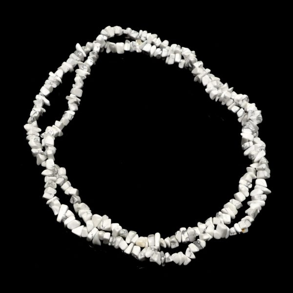 Howlite Chip Bead Necklace All Crystal Jewelry chip beads