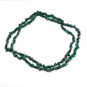 Malachite Chip Bead Necklace All Crystal Jewelry chip beads