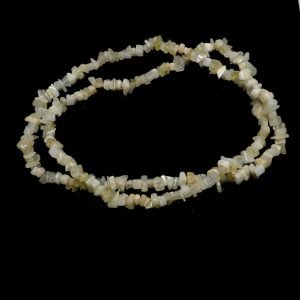 Mother of Pearl Chip Bead Necklace All Crystal Jewelry chip beads