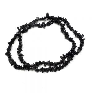 Black Obsidian Chip Bead Strand Crystal Jewelry black obsidian