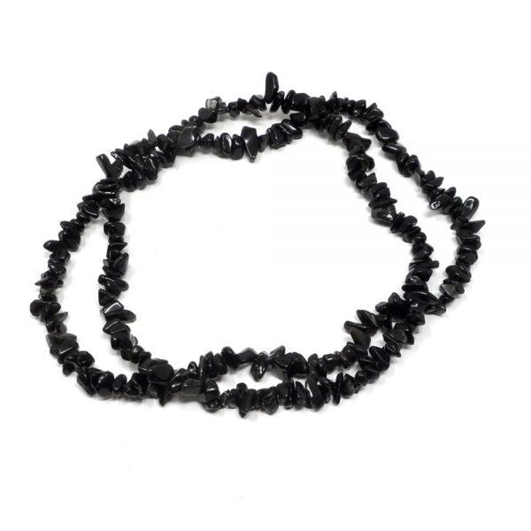 Black Obsidian Chip Bead Strand All Crystal Jewelry black obsidian
