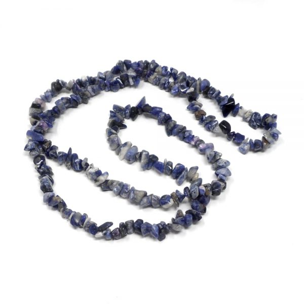 Sodalite Chip Bead Necklace All Crystal Jewelry chip beads