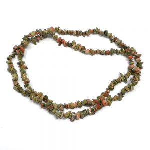 Unakite Chip Bead Strand All Crystal Jewelry beads