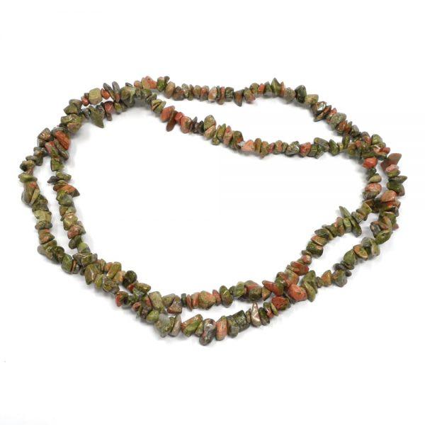 Unakite Chip Bead Strand All Crystal Jewelry beads