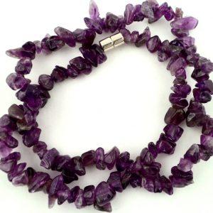 Amethyst Chip Choker All Crystal Jewelry