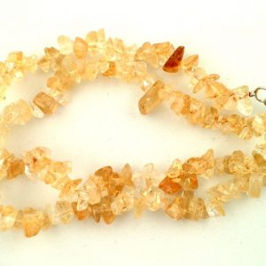 Citrine chip choker All Crystal Jewelry Citrine chip choker