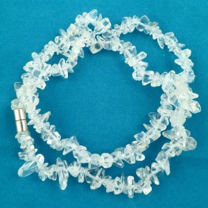 Clear Quartz chip choker All Crystal Jewelry Clear Quartz chip choker