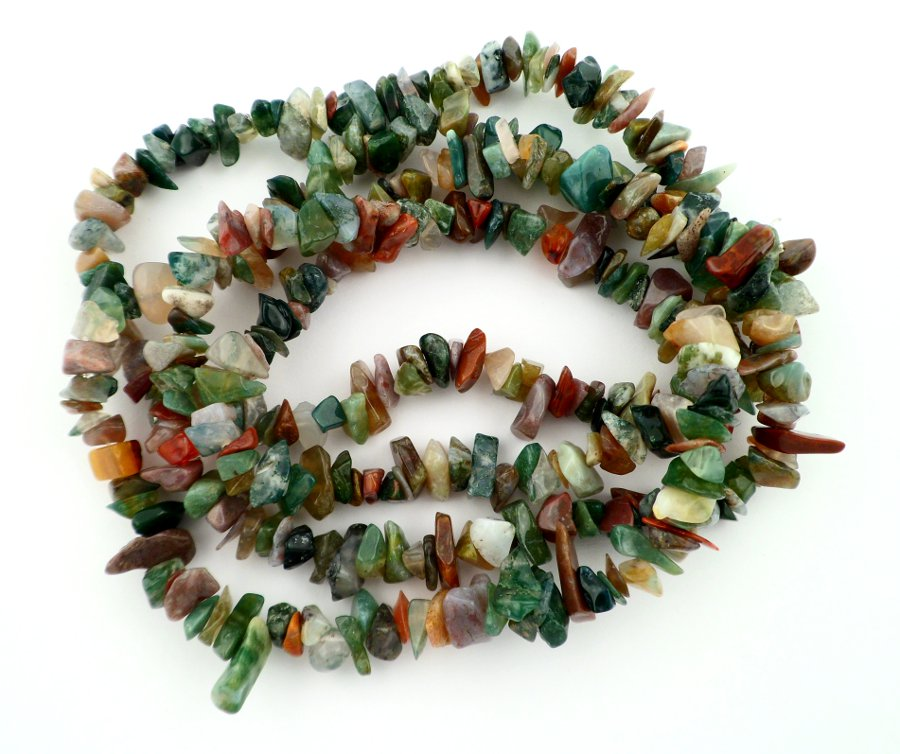 Jasper, Fancy Chip Bead Necklace All Crystal Jewelry chip beads