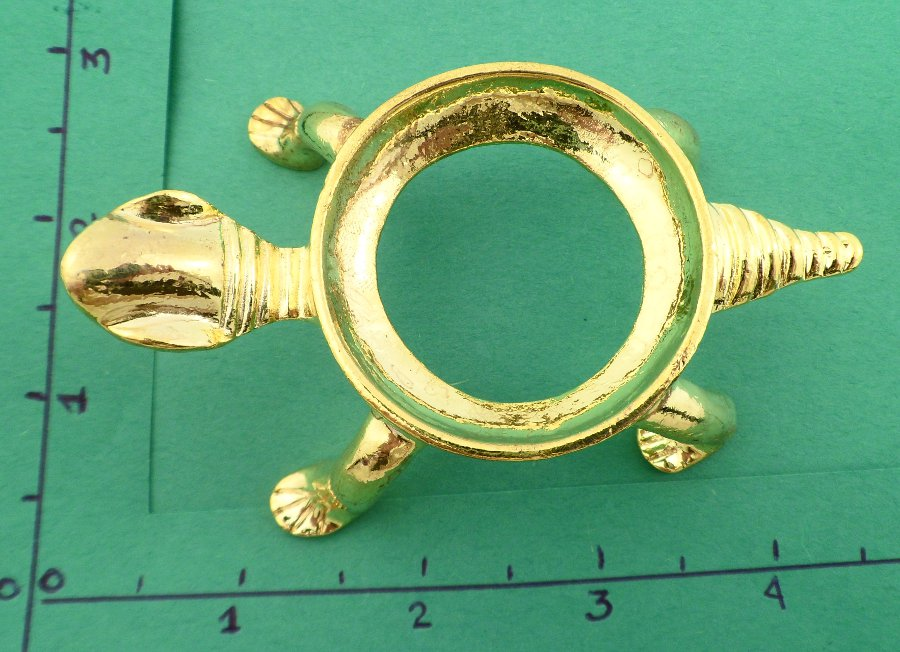 Gold colored turtle sphere stand – large Accessories Gold colored turtle sphere stand