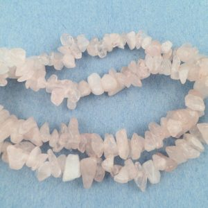 Rose Quartz chip choker All Crystal Jewelry Rose Quartz chip choker