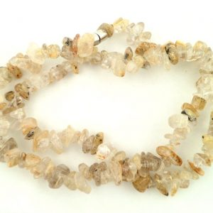 Rutilated Quartz chip choker All Jewellery