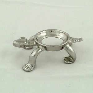 Silver colored turtle sphere stand – medium All Accessories Silver colored turtle sphere sta