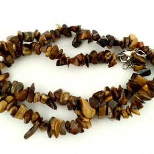 Gold Tiger Eye chip choker All Jewellery