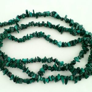 Malachite Chip Bead Necklace Crystal Jewelry chip beads