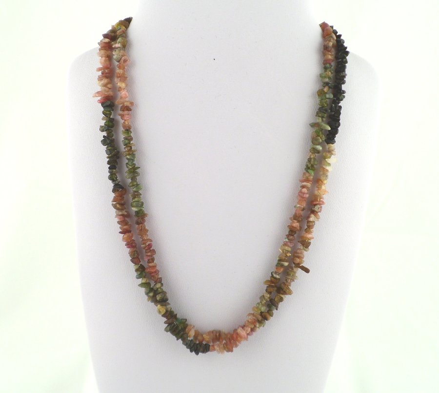 Tourmaline, Mixed Chip Bead Necklace All Crystal Jewelry chip beads