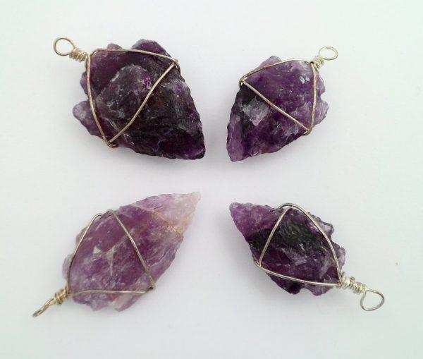 Amethyst Arrowhead Pendant 1pc All Crystal Jewelry amethyst