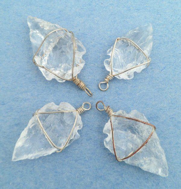 Clear Quartz Arrowhead Pendant 1pc All Crystal Jewelry arrowhead pendant